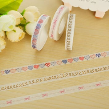 0.8cm*10m split line washi tape DIY decoration scrapbooking planner masking tape adhesive tape kawaii stationery