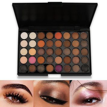 40 Colors Smoky Matte Eyeshadow Pallete Mixed Color Baking Powder Eye Shadow Palette Naked Nude Glitter Cosmetic Set