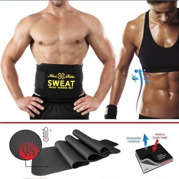 Neoprene Waist Belt Sweat Premium Waist Trainer Trimmer Belt Body Shaper Hot Shapers Waist Cincher For Men Women