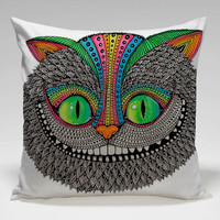 ceshire cat in aztec Square Pillow Case Custom Zippered Pillow Case one side and two side
