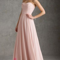 A-Line Sweetheart Pearl Pink Beach Bridesmaid Gowns London - £ 81.88 - Joannesdress.co.uk