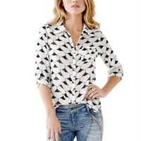 Ferris Long-Sleeve Heart Button-Down