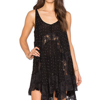 Free People She Swings Slip in Black Combo
