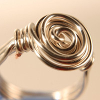 wire wrapped ring classic roman knot by WakeUpTheAngel on Etsy