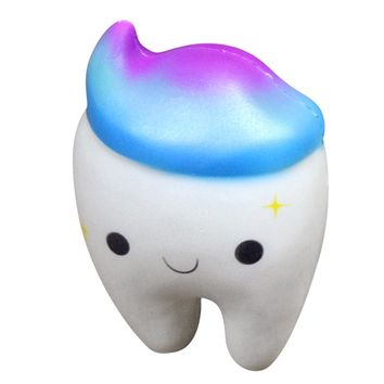 Novelty Toy Squishy Tooth Slow Rising Squishy Teeth Cake