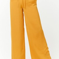 Satiny Wide-Leg Trousers