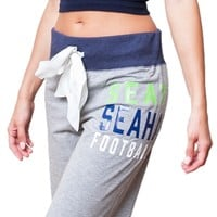 Seattle Seahawks Womens Bow Sweatpants | SportyThreads.com