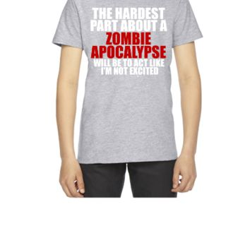 Zombie apocalypse for dark - Youth T-shirt