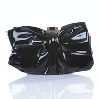 Black Britney Clutch - Unique Vintage - Cocktail, Pinup, Holiday & Prom Dresses.