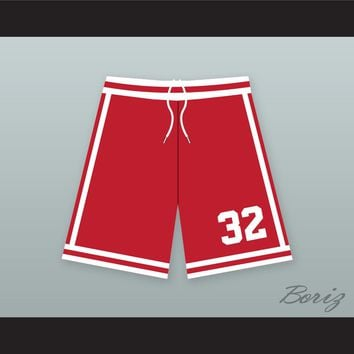 Ralph Tresvant 32 New Edition Red Basketball Shorts