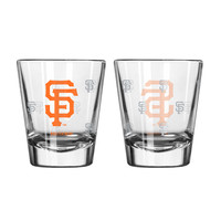 San Francisco Giants Shot Glass - 2 Pack Satin Etch