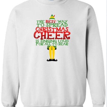 Buddy The Elf Sweater The Best Way To from DickTeesEtsy on Etsy
