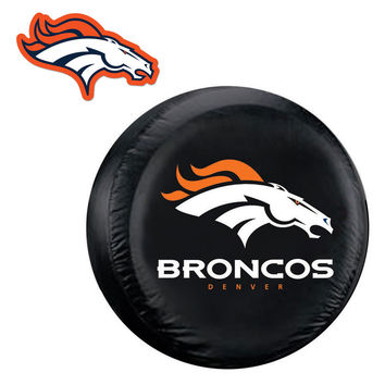 Denver Broncos NFL Spare Tire Cover and Grille Logo Set (Regular)