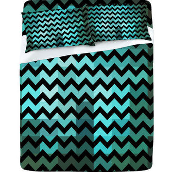 DENY Designs Home Accessories | Madart Inc. Black Chevron Romantic Evening Sheet Set