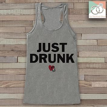 Bridesmaid Tank Top - Just Drunk Tank Top - Bridal Party Wedding Shirt - Grey Tank Top - Bachelorette Party - Bridal Party Outfit
