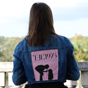 The 1975 Robbers Inspired Denim Jacket Hand Painted