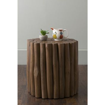 East At Main's Mathiston Brown Round Teakwood Accent Table/Stool | Overstock.com Shopping - The Best Deals on Coffee, Sofa & End Tables