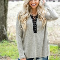 Wildest Dreams Taupe Plunge Lace Up Top Shop Simply Me Boutique – Simply Me Boutique