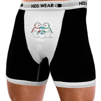 Cute Snowman Family with Boy Mens NDS Wear Boxer Brief Underwear by TooLoud