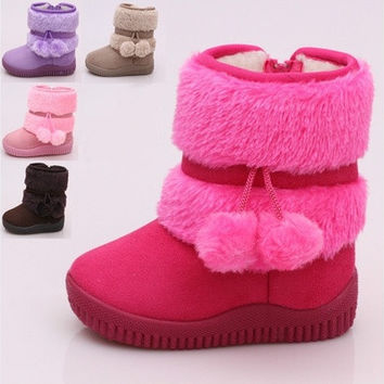2016 fashion lovely children snow boots [8833422604]