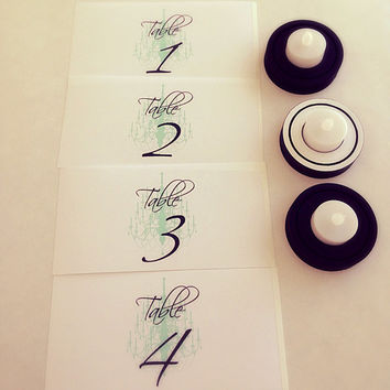 Luminary Table Numbers for Weddings (10) FREE SHIPPING
