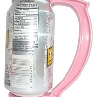 GoPong The Can Grip - Instantly Turn Your Can Into a Mug Handle, Set of 5, 12-Ounce (Pink)