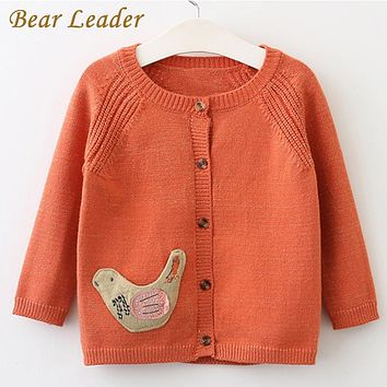Girls Sweater New Seal Embroidery Long Sleeve Cotton Sweater For Children Knitted Sweater