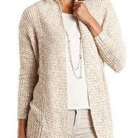 Marled Open Front Cardigan Sweater by Charlotte Russe