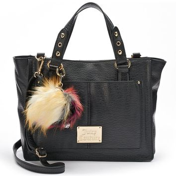 Juicy Couture Multipocket Convertible Shopper (Black)
