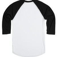 Fall-Unisex White/Black T-Shirt