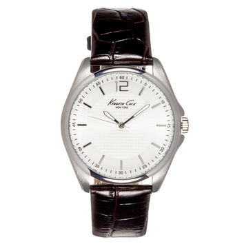 Kenneth Cole KC5173 Men's New York White Dial Interchangeable Brown Leather Strap Watch