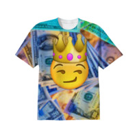 King Emoji T-shirt created by mostdopedarius | Print All Over Me