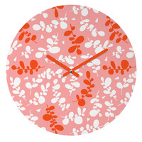 Heather Dutton Sweet Pea Round Clock