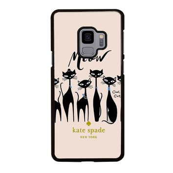 KATE SPADE MEOW CAT Samsung Galaxy S3 S4 S5 S6 S7 S8 S9 Edge Plus Note 3 4 5 8 Case