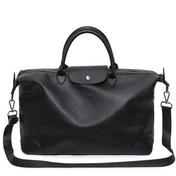 DCCK7N3 2017 Black Male PU Leather Big Sports Bag For Women Fitness Men Gym Bag Lady Shoulder Bag Tote Handbag Duffel Bolsa Sac De Sport