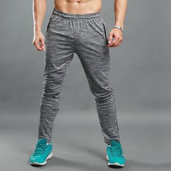 Jogger Track Pants Men Professional Sportswear Bodybuilding Gyms-clothing Fitness Thin Trousers Breathable Sporting Sweatpants