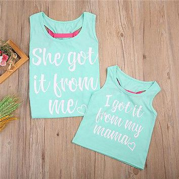 Mother and Daughter Matching Vest Tank Tee