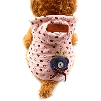 Armi store Love Pattern Dog Coat Winter Warm Pink Hat Dogs Coats Jackets 6141016 Pet Clothes Supplies