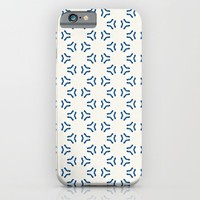 Acrylic Blue Pattern Circles iPhone & iPod Case by Doucette Designs