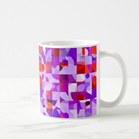 Fun purple Squares Mug