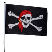 Jolly Roger Skull Crossbones Pirate Flag Garden Banner Halloween Home Party Club Flag
