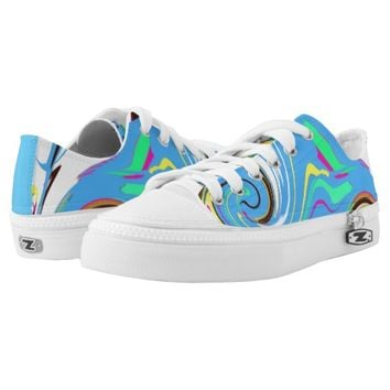 Girls Keds Canvas Shoes Blue/Multi Printed Shoes