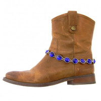Montana West Blue Rhinestone Boot Chain  BOT150103-01RBUL