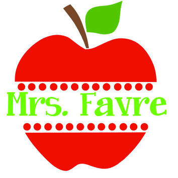Teacher Apple Monogram Decal Add Personality to Christmas Gifts, Great Decor, Gift Wrap Option, Personalize So Many Things