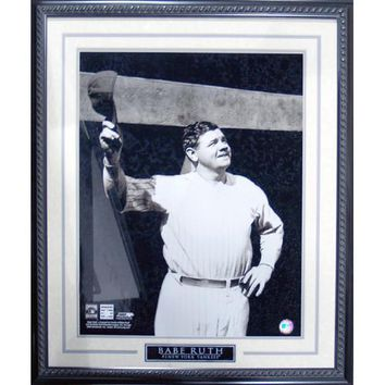 Babe Ruth Tip Cap at Dugout Framed 16x20