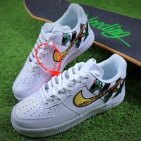 OFF White x Nike Air Force 1 Low OW Zebra Black Line AF1 Sport Shoes