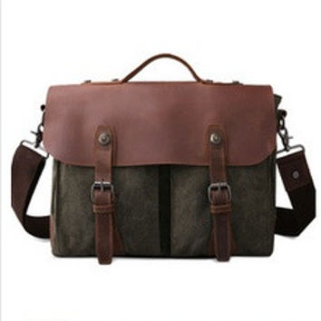 Men's casual canvas tote bag Messenger bag men messenger bag [8361415111]
