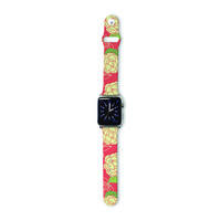 "Holly Helgeson ""Cammelia"" Red Yellow Apple Watch Strap"