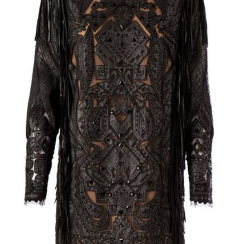 Emilio Pucci ornate panelled shift dress
