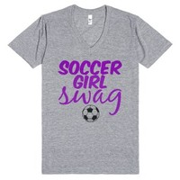 Soccer Girl Swag-Unisex Athletic Grey T-Shirt